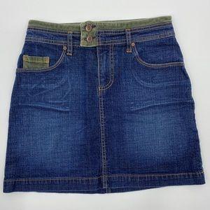 Kama Jean Mini Skirt With Corduroy Size 1